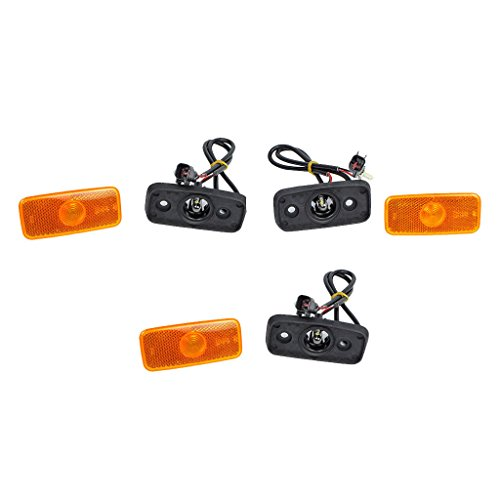 Genuine (3X) Side Marker Lamp with Wiring Loom & 1671689, VYC155034AC: