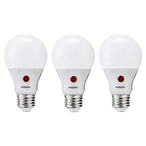 Philips LED Dusk to Dawn Bulb 3 Pack, 60 Watt Equivalent, Soft White (2700K) A19 Non Dimmable, Medium Screw - Screw In Led Bulbs