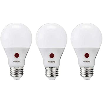 Philips LED Dusk to Dawn Bulb 3 Pack, 60 Watt Equivalent, Soft White (2700K) A19 Non Dimmable, Medium Screw Base