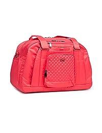 Lug Propeller Gym/Overnight Duffel Bag, Coral Pink