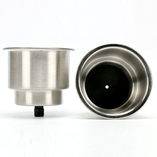 Amarine-made 2pcs Stainless Steel Cup Drink Holder with Drain Marine Boat Rv Camper by Amarine-made (Image #4)