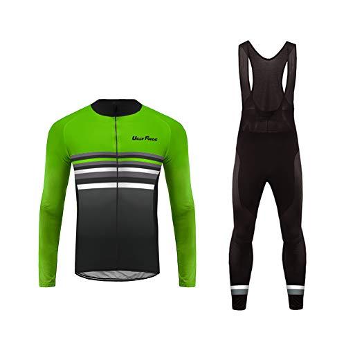 Uglyfrog Bike Wear Cycling Gifts Cycling Suit Long Jersey Men