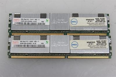 KIT OF 2 - HYNIX HYMP125F72CP8D3-Y5 2GB SERVER DIMM DDR2 PC5300(667) FULL-BUF ECC 1.8v 2RX8 240P 256MX72 128mX8 (2G x2) - TOTAL 4GB