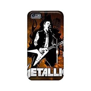 Anti-Scratch Hard Cell-phone Cases For Iphone 6plus (xFI11639fTHK) Custom Lifelike Metallica Series