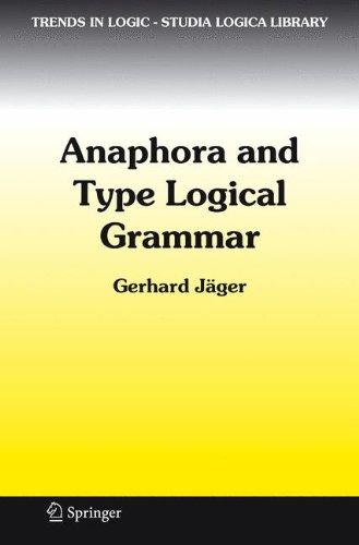 anaphora and type logical grammar 感想 gerhard jaeger 読書メーター