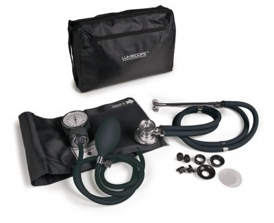 Lumiscope Black Blood Pressure and Stethoscope Kit