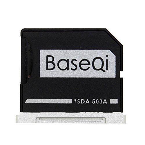 Flat File Flush Base - BASEQI Aluminum microSD Adapter for MacBook Pro 15