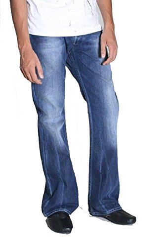 Diesel Zathan 008TA Regular/Slim Fit Jeans For Men (26, 13oz Dark Indigo With Flat Finish) Diesel Indigo Jeans