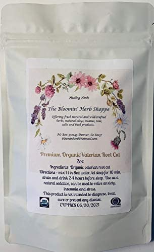 Organic Premium Valerian Root Cut and Sifted 2oz The Bloomin Herb Shoppe Valeriana wallichii Fresh Potent Calm Sleep
