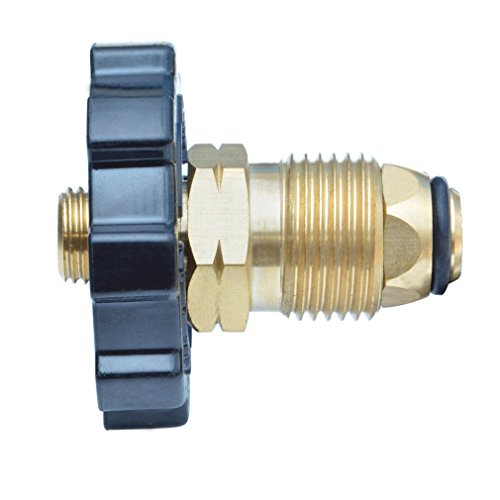 Onlyfire 5041 Soft Nose POL Propane Gas Fitting Adapter with Excess Flow X 1/4 Inch Male Pipe Thread , Brass (Pol Fitting)
