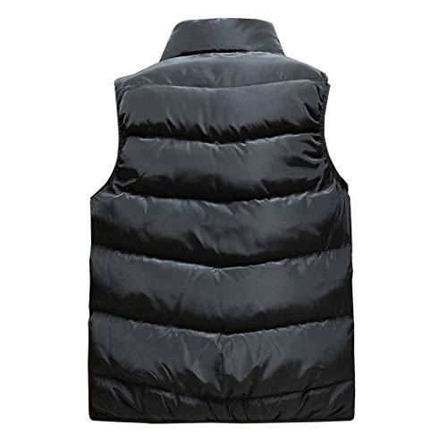 100 Extérieure Hommes À Red Gjfeng Polyester Glissière Et En Hiver Automne Confortable Veste Tissu Pour Gilet Chaude Manches Épaisse Sans 11ZwPnWzR