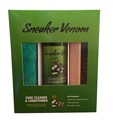 Sneaker Venom Shoe Cleaner & Conditioner 8oz Brush Kit