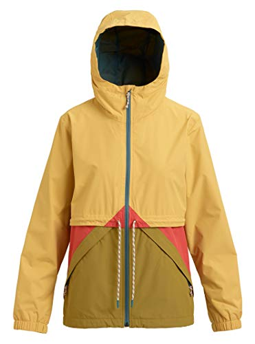 Burton Women's Narraway Rain Jacket, Ochre/Evilo/Burnt Sienna, Small