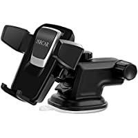 JSRCAR Phone Holder for Car, Universal Car Windshield / Dashboard Phone Mount Holder for iPhone X/8/8 Plus/7/7 Plus/6S/6S Plus, Galaxy S8/S8 Plus/S7/S7 Edge/S6/S5, Huawei and More - Black