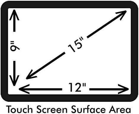 Anti-Glare 15 POS Touch Screen Protector for Touch Dynamic Pulse with Anti-Fingerprint Properties for Various Point of Sale Touch Screens. 2 Pack