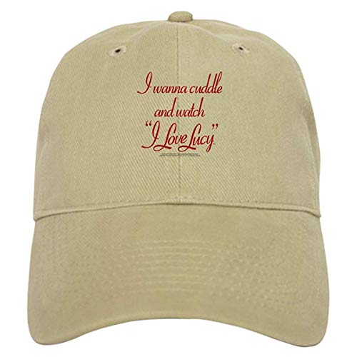 - LUDEM I Wanna Cuddle and Watch I Love Lucy Baseball Cap with Adjustable Closure, Unique Printed Baseball Hat