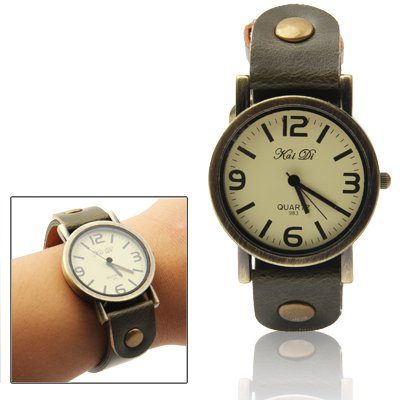 Quartz Wrist Watch +Synthetic Leather Strap Watch (Army Green) Premium Quality (Color : Army Green) by GuiPing