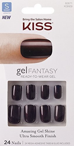 Kiss Nails GEL FANTASY ''KGN09'' (AB FAB) Short Design Nails w/Adhesive Tabs & Glue by KISS