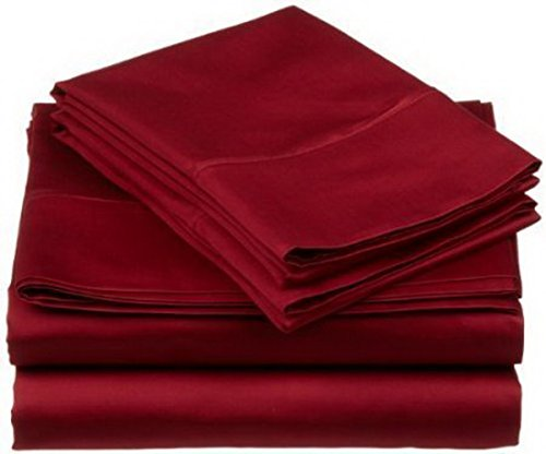 Luxury Bedding Sale - Premium Quality 800 TC Thread Count 4 piece Deep Pocket Bed Sheet Set 100 % Egyptian Cotton for Soft, Stylish, Comfortable Bed - Luxury Bed Linen by StarZebra - Royal Burgundy