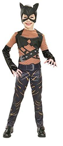 Girls Catwoman Costume - Child Large -