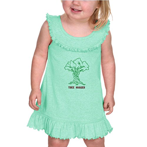 Tree Hugger Style 2 Infants Girls Ruffle Collar Tank Dress Ice Green 24 (Tree Hugger Tank)