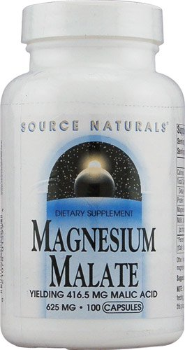 625 Mg 100 Capsules (Source Naturals Magnesium Malate -- 625 mg - 100 Capsules - 2PC)