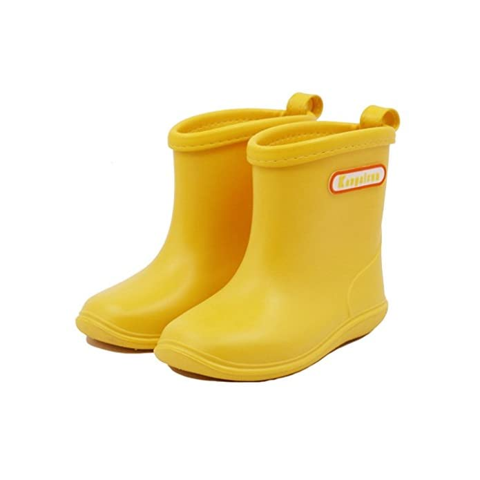 Babys Rain Boots Children Waterproof Shoes for Boys Girls (1-6 Years)