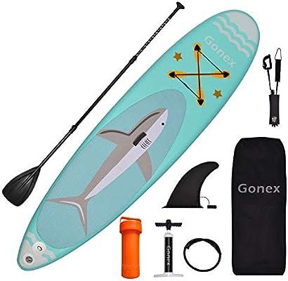Gonex Tabla Paddle Surf Hinchable 320x81,3x15,2cm, Duradero ...