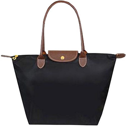 Whoishe Women Fashion Hobo Bag Large Tote Black Shoulder (Large Hobo Tote Handbag)