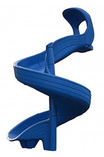 Twisty Slide for 6 Foot Deck Height (Blue)