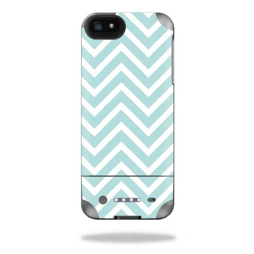 MightySkins Protective Vinyl Skin Decal Cover for Mophie Juice Pack Helium iPhone SE/5s/5 External Battery Case wrap sticker skins Aqua Chevron -  MJHEIP5-Aqua Chevron