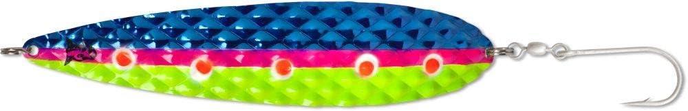 ideal f/ür gro/ße Lachse Rhino Salty Diamond Trolling Blinker UV-aktiv acht Einzelhaken L/änge 165mm Gewicht 40g
