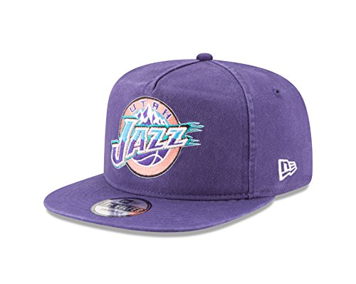 NBA Utah Jazz Hardwood Classic Team Washed A-Frame Snapback Cap, One Size, Purple