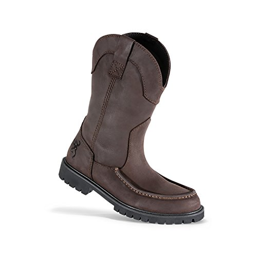 Browning Mens Hastings Wellington Leather Moc Toe Boots, Bracken/Bracken, 13M, F000006920138