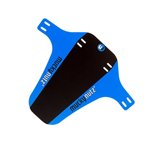 Mucky Nutz Bender Face Fender FR DH Mountain Bike Front Mudguard 2016 - Black/Blue by Mucky Nutz