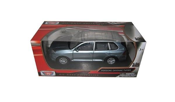 Amazon.com: Porsche Cayenne Turbo Grey 1/24 by Motormax 73345: Toys & Games