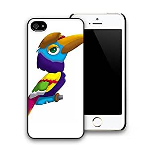 Cute Colorful Parrot Pattern Hard Plastic Back Case Cover for iphone 5 iphone 5s