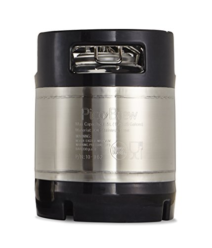 The brewing keg is used for the brewing session, fermenting, and draft dispensing of beer brewed by the Pico Brew pico. Features ball lock connectors for those who wish to serve their beer on draft in their kegerator. Rubberized.