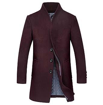 YIER Men's Wool Coats & Jackets Winter Cashmere Jacket