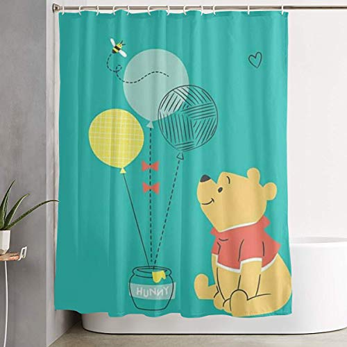Shower Curtain Winnie Pooh Waterproof Curtain 60 X 72 Inches