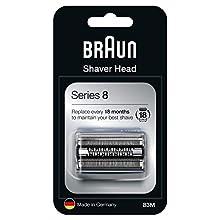 Braun Series 8 83M Cabezal de Recambio Plata para Afeitadora Eléctrica Hombre, Compatible con las Afeitadoras Series 8