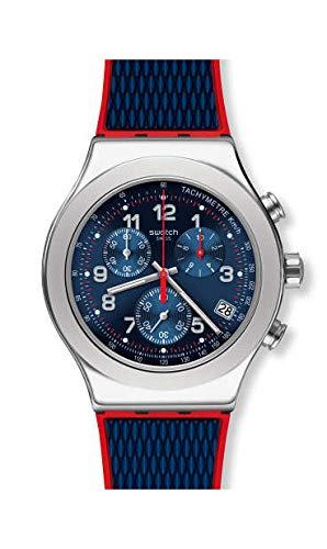 Swatch Reloj Cronógrafo para Hombre de Cuarzo con Correa en Caucho YVS452: Amazon.es: Relojes