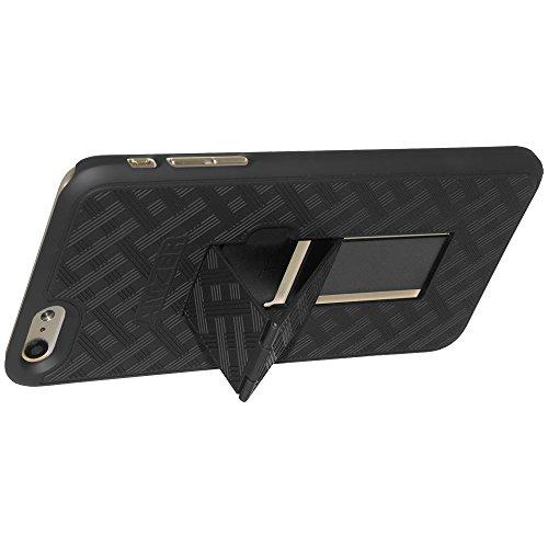 Amzer Coque à clipser avec béquille pour iPhone 6Plus noir
