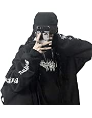 Y2k Clothes Aesthetic Hoodie Gothic Punk Pullover 90s Vintage Harajuku Streetwear A-03