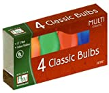 Holiday Wonderland # 1074A-88 4 Pack C7 Ceramic Multi Color Replacement Classic Christmas Bulbs - Quantity of 500 Packs