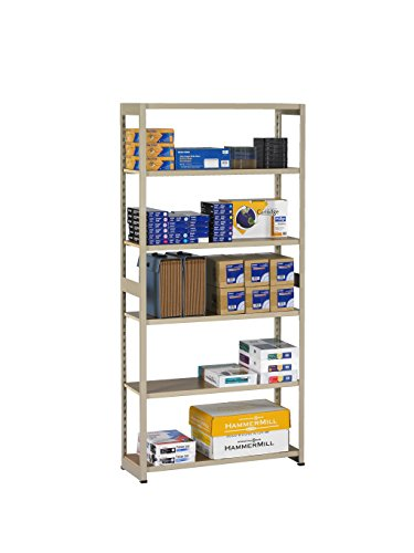 (Tennsco RGL-1836S Regal Shelving Starter Unit, 6 Shelves/5 Openings, 36