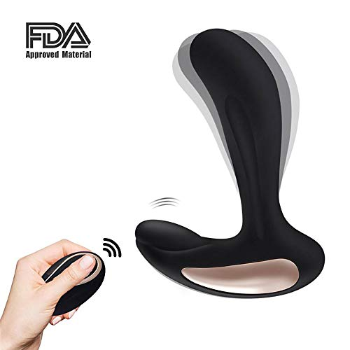 Vibrating Stimulator Plug 12 Speed, Rechargeable Male Postate Massager for Man