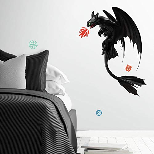 RoomMates How To Train Your Dragon: The Hidden World Toothless Peel And Stick Giant Wall Decals