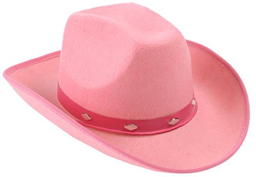 Kangaroo Pink Studded Felt Cowboy Hat, Pink Cowgirl Hat