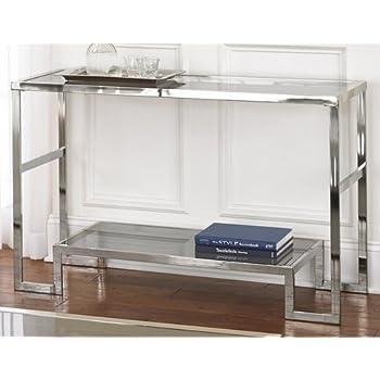 Amazon Com Contemporary Modern Chrome Metal And Glass